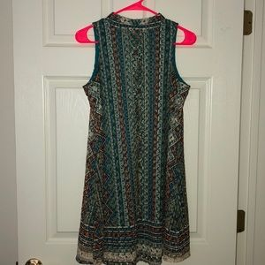 Crochet Multi-Colored Midi Dress